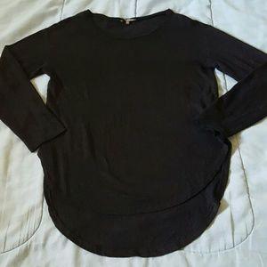 Michael Stars Linen Knit Top Black XS